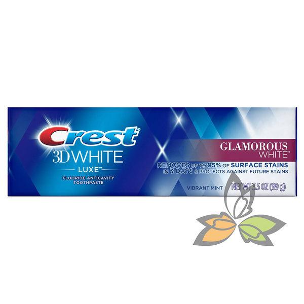 ★特惠9/25止★Crest 3D White Luxe 專業級奢華亮白牙膏1 條 99g【百奧田旗艦館】