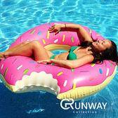 超人氣 充氣草莓甜甜圈 泳圈 成人游泳圈 水上座椅 大號救生圈 充氣玩具 超可口造型 秀美照