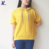 【早秋新品】American Bluedeer - 抽繩連帽短袖針織衣(魅力價) 秋冬新款