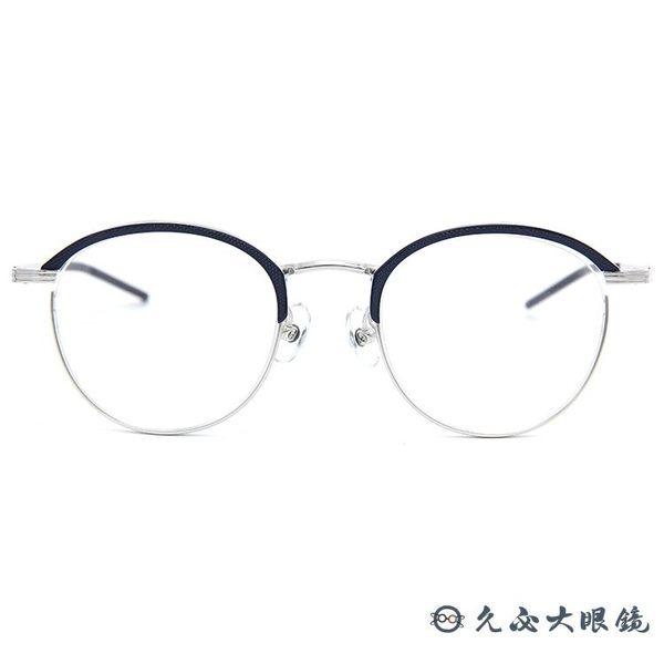 999.9 日本神級眼鏡 S160T (深藍-銀) 鈦 圓框 眼鏡 久必大眼鏡