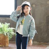 童裝女童外套秋冬裝日韓中大童夾棉加厚上衣棒球服夾克衫