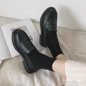 娃娃鞋黑色軟妹小皮鞋女英倫風平底 春夏季新款復古日繫jk制服單鞋潮(快速出貨)