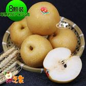 果之家 台中東勢一級鮮嫩豐水梨8顆入(共約7.5台斤)