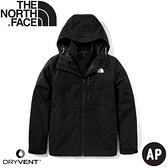 【The North Face 男 兩件式防水保暖外套 《黑》】4R2H/防風外套/保暖外套/防水外套