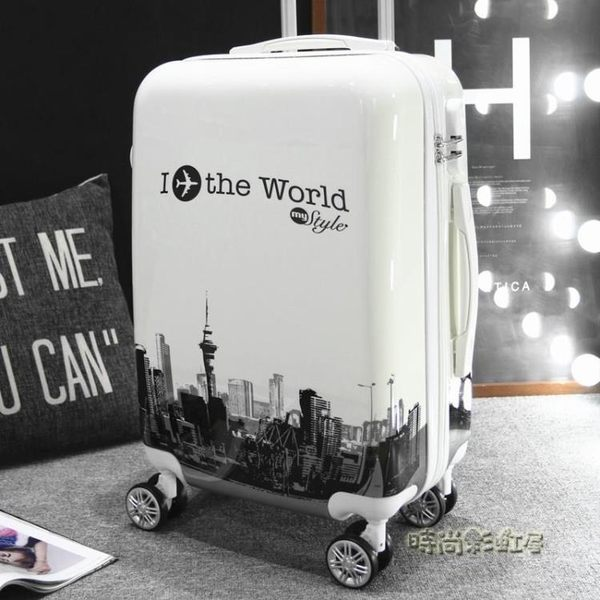 行李箱男拉桿箱女韓版箱子20萬向輪學生拉箱24寸皮箱密碼箱旅行箱MBS「時尚彩虹屋」