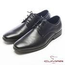 CUMAR超輕軟底-真皮綁帶舒適皮鞋-黑
