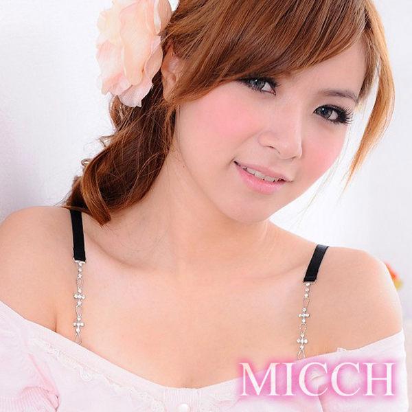 MICCH 十字白鑽閃耀捷克鑽石肩帶(百搭黑織帶)