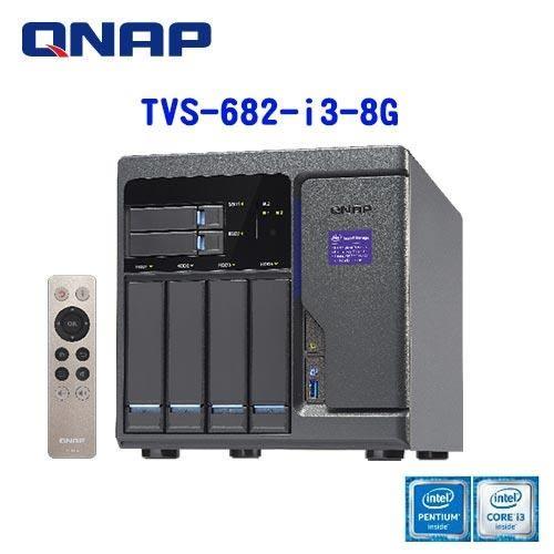 QNAP 威聯通 TVS-682-i3-8G 6Bay 網路儲存伺服器