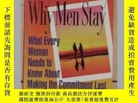 二手書博民逛書店原版罕見Why men stray, why men stay