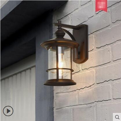 超實惠 壁燈 美式郵筒戶外壁燈室外簡約陽台防水過道牆壁別墅天台店面門口燈具 兩色可選W6094