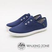 WALKING ZONE 帆布系列 防潑水果漾休閒 女鞋-丹寧藍(另有甜心粉、經典黑、米粒白)