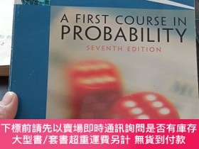 二手書博民逛書店A罕見First Course In Probability SEVENTH EDITION【書內頁有筆記劃線,不