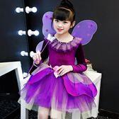春季上新 萬圣節兒童服裝女童巫婆裙白雪公主裙cosplay女孩化妝舞會演出服
