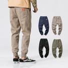 Free Shop 素面立體剪裁壓線縮口褲 鬆緊抽繩休閒束口褲 超好穿 大尺寸 買到賺到 穿到帥到【QTJ9917】