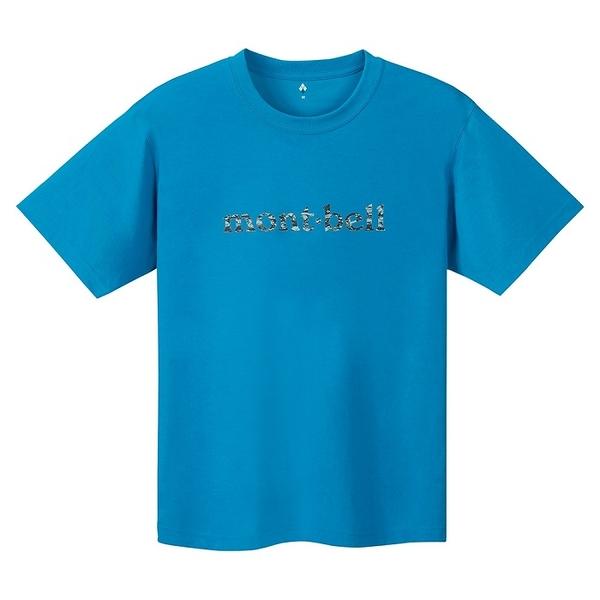【山水網路商城】 日本mont-bell 短袖排汗衣 WIC.T ROCK TEXTURE 松石藍 1114161