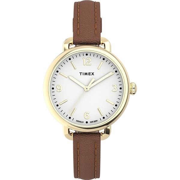 【TIMEX】天美時 風格系列 典雅知性女錶 ( 白棕 TXTW2U60000)