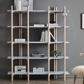 書櫃 藝術北歐現代簡約書架落地木質置物架子多層收納組裝 夢藝家