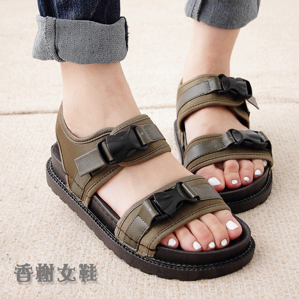 一字方便扣厚底休閒涼鞋 香榭