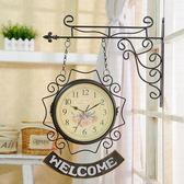 雙面掛鐘客廳鐘表歐式現代簡約創意兩面鐘