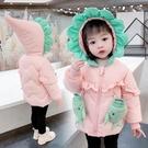 兒童棉服女 冬裝加絨兒童羽絨棉衣棉服可愛女寶寶5小童加厚外套3歲【快速出貨八折下殺】