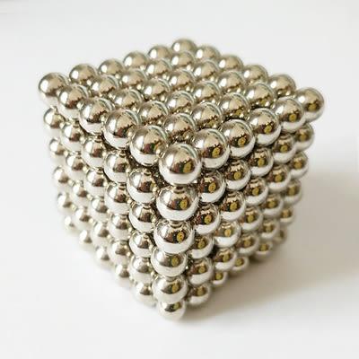巴克球5MM216顆魔力磁力球積木磁鐵成人兒童益智減壓玩具 (銀色)
