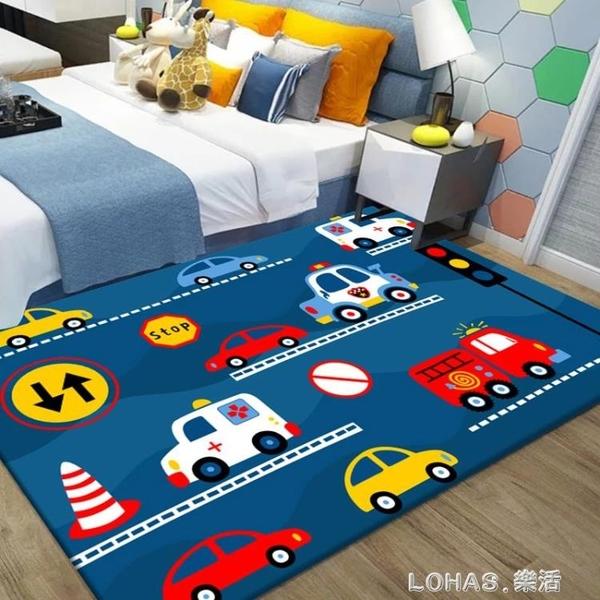 兒童房地毯臥室男孩女孩家用床邊毯滿鋪房間卡通爬行墊榻榻米地墊 樂活生活館