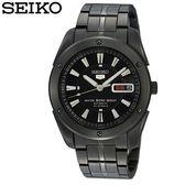 【名人鐘錶】SEIKO精工 全日製5號機芯全黑鋼後背鏤空機械錶・台灣公司貨・SNZF39J1・38mm運動系列