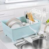 廚房放碗柜塑料帶蓋瀝水碗架碗筷收納箱放餐具碗筷收納盒碗盤架子wy