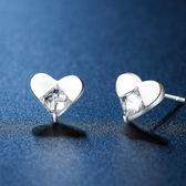 耳環 925純銀鑲鑽-迷人愛心生日情人節禮物女飾品73hk14【時尚巴黎】