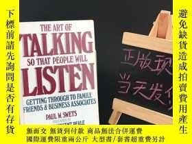 二手書博民逛書店The罕見Art of Talking So That People Will Listen: Getting T