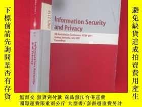 二手書博民逛書店Information罕見Security and Privac