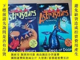二手書博民逛書店Astrosaurs:The罕見Seas of Doom Riddle of the RaptorsY2462