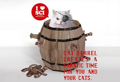 【賽先生科學工廠】Cat barrel 瘋狂貓咪桶 ( 貓咪玩具屋 )