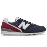 New Balance 996 女鞋 休閒 復古 麂皮 緩震 藍 紅【運動世界】WL996BA