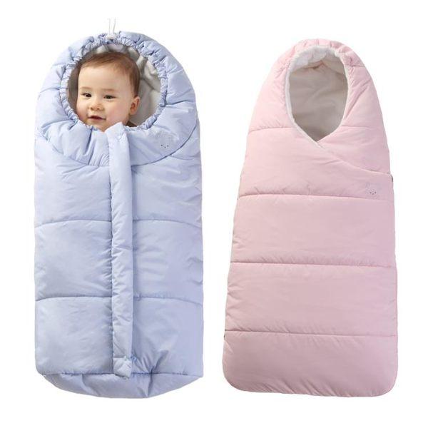 嬰兒秋春夏季抱被寶寶防踢睡袋新生兒用品包被加厚防風