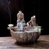 魚缸造景 飾品 中式客廳霧化加濕流水器禪意小擺件陶瓷循環養魚缸創意水景裝飾品 玩趣3C