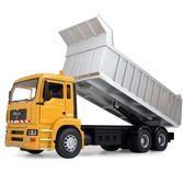 售完即止-俊基聲光版1:32大型翻斗車/消防車/垃圾車模型合金工程車模型6-15(庫存清出T)