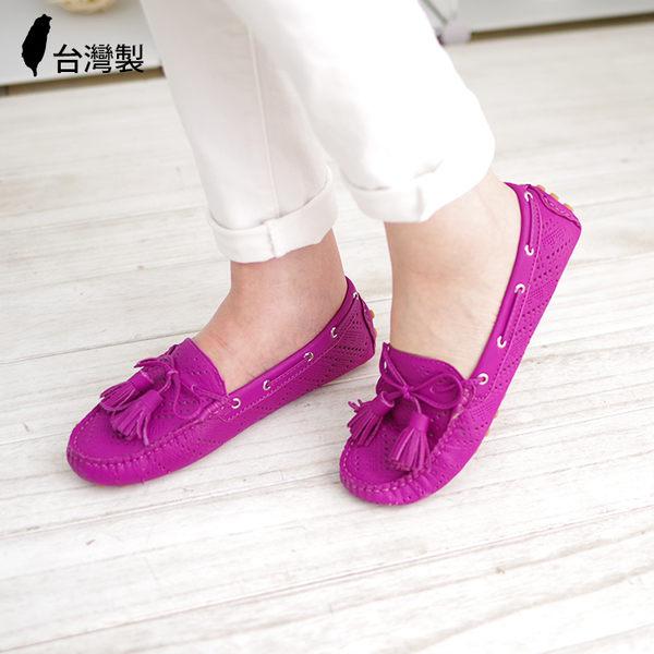 豆豆鞋 真皮帆船鞋 台灣製真皮懶人鞋 雷根鞋《生活美學》