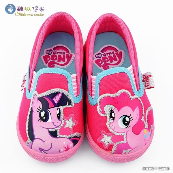 童鞋城堡-女童休閒鞋 室內鞋 彩虹小馬 MP7964 桃