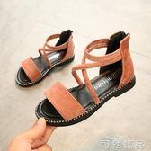 女童涼鞋新款韓版夏季時尚羅馬小女孩鞋子學生夏款兒童公主鞋  可然精品鞋櫃