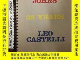 二手書博民逛書店Jasper罕見Johns 35 Years Leo Caste