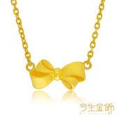 今生金飾    鎖骨練 締結愛情   純黃金項鍊