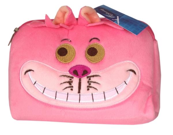 【卡漫城】 妙妙貓 化妝包 粉 ㊣版 愛麗絲夢遊仙境 Cheshire 絨毛 筆袋 小物收納萬用包 Alice