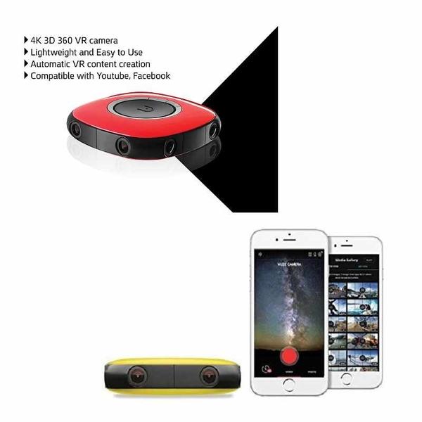 Vuze-3D 360°4K VR相機 黃/紅 [2美國直購]