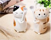 聖誕節狂歡貓咪情侶杯子陶瓷杯帶蓋帶勺可愛馬克杯帶蓋勺大容量創意簡約水杯 芥末原創