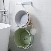 免打孔折疊臉盆架衛生間盆子收納架浴室壁掛【輕奢時代】