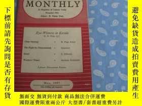 二手書博民逛書店LABOUR罕見MONTHLY 1957年第3期【月刊 】Y26