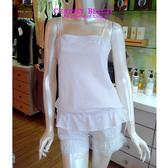 Chasney Beauty-純淨白S-L棉質褲裝短睡衣