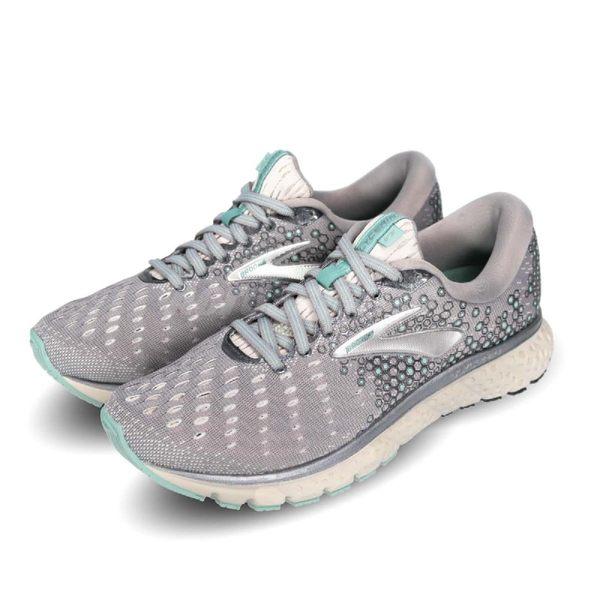 BROOKS 慢跑鞋 Glycerin 17 甘油系列 十七代 灰 銀 超級DNA動態避震科技 運動鞋 女鞋【PUMP306】 1202831D070