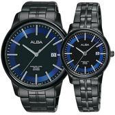 ALBA雅柏 日系時尚對錶-鍍黑/42+28mm VJ42-X226B+VJ22-X257B(AS9D87X1+AH7N62X1)